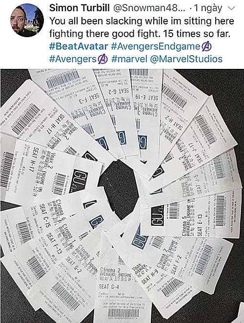 Cuối tháng 5/2019, một fan đã ủng hộ bằng cách xem phim 15 lần.