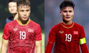 Tiền vệ Trọng Long: 'Hạnh phúc khi được mặc cùng số áo với Quang Hải'