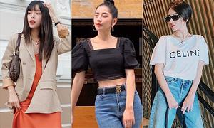Street style từ nữ tính đến chất chơi của sao Việt tuần qua