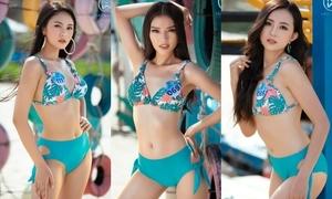 Top 39 Miss World Vietnam khoe body với bikini trên biển