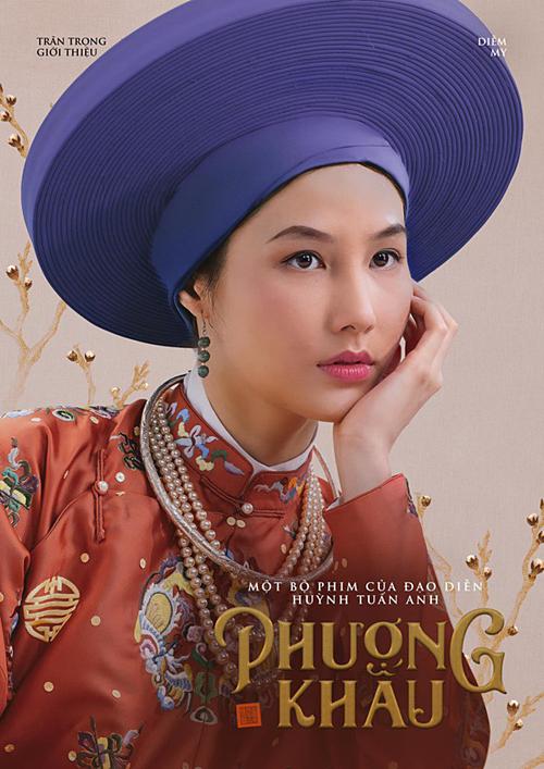 Tạo hình của Diễm My trong phim Phượng Khấu.