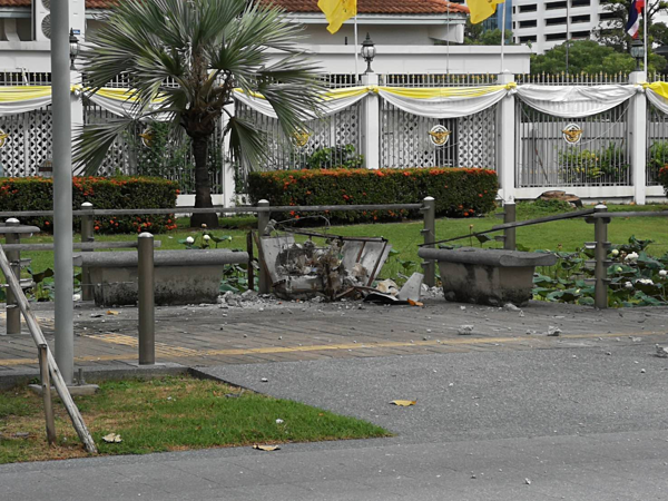 Hiện trường vụ nổ hàng loạt tại thủ đô Bangkok