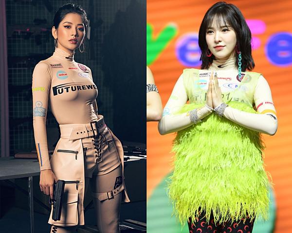 So với set đồ cầu kì, diêm dúa của mỹ nhân nhà SM, outfit hiện đại, cá tính của Chi Pu được khán giả dành lời khen về gu thẩm mỹ.