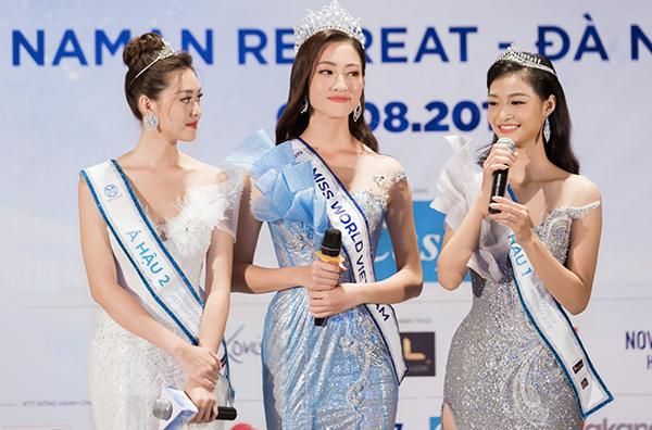 Lương Thùy Linh và hai Á hậu sẵn sàng bước đến đấu trường quốc tế.
