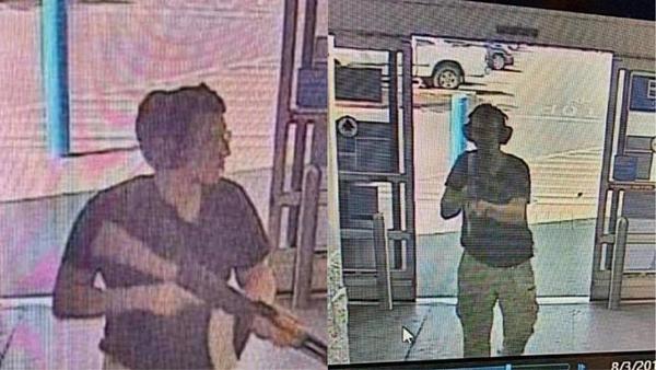 Hình ảnh của nghi phạm Patrick Crusius được camera an ninh thu lại.