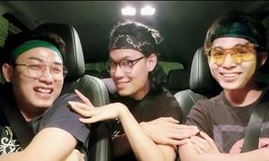 Jun Phạm - Trúc Nhân - Quang Trung quẩy tưng trên xe hơi