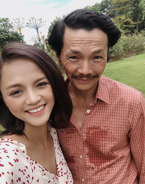 Sau Về nhà đi con, Thu Quỳnh vẫn thân thiết gọi NSƯT Trung Anh là bố.