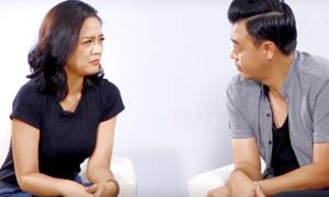 Thu Quỳnh - Tuấn Tú nhập vai bố Sơn, cô Xuyến 'Về nhà đi con'