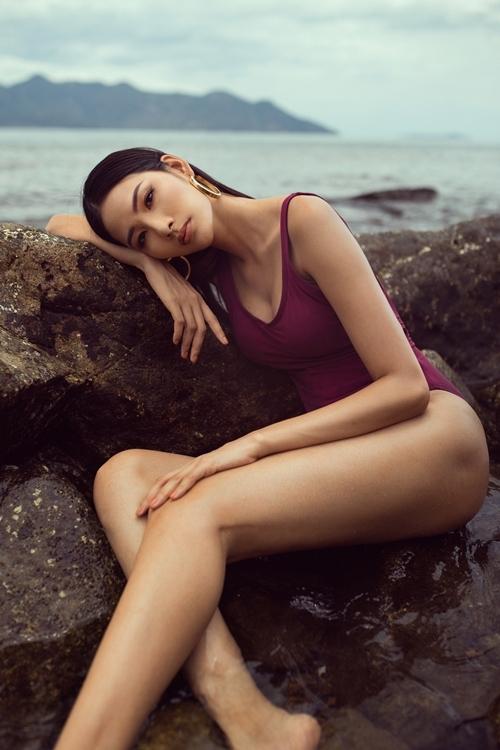 Vóc dáng sexy của Hoàng Thùy. Cô cho biết sẽ không hối hận nếu phải ra về tay trắng tại Miss Universe.