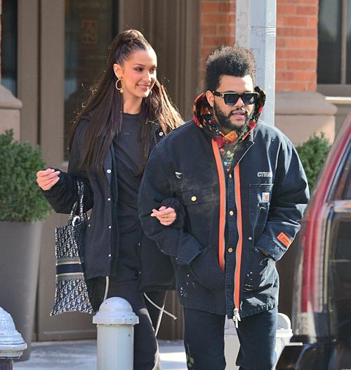 Hình ảnh của Bella và The Weeknd hồi tháng 1/2019.