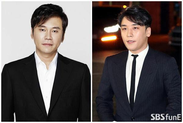 Bên cạnh cáo buộc về đánh bạc, cả Seung Ri (phải) và Yang Hyun Suk đều đang bị điều tra về cáo buộc môi giới mại dâm.