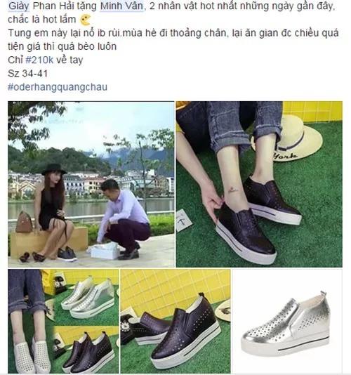 Đôi giày sử dụng trong cảnh quay Sơn (Việt Anh) tặng Minh Vân vì rất tiện dụng nên đãtrở thành hot trend, được các cửa hàng thời trang bán với đủ mức giá.