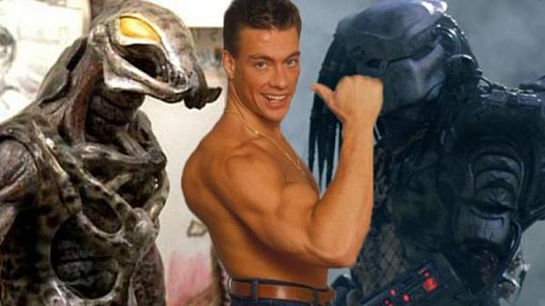 Jean-Claude Van Damme cùng tạo hình quái vật không gian trong Predator