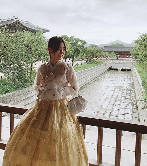 Từ Hàn Quốc, Phương Nga gửi lời chúc mừng sinh nhật đến bạn trai Bình An. Á hậu đang có chuyến du lịch Seoul cùng mẹ.