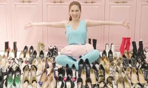 Ngọc Trinh khoe tủ giày 300 đôi, gần 5 tỷ đồng