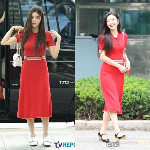 Joy và Eun Bi bất phân thắng bại khi đụng hàng váy