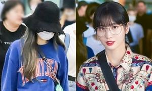 Na Yeon mệt mỏi, Momo xinh đẹp nổi bật khi trở về Hàn