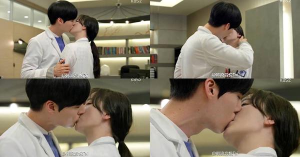 Cảnh hôn của hai người trong Blood được khán giả đánh giá là một trong những cảnh hôn chân thực và nồng cháy nhất trên màn ảnh phim Hàn. Cảnh hôn này đã được các fan của bộ phim chờ đợi trong suốt 16 tập.Nam diễn viên Ahn Jae Hyun cũng tiết lộ rằng: