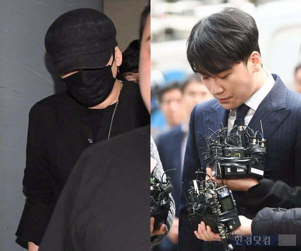 Yang Hyun Suk (trái) và Seung Ri đều đang vướng vào những cáo buộc phạm pháp.