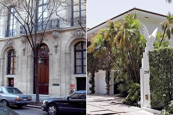 Biệt thự ở Manhattan (New York - ảnh trái) và Palm Beach (Florida) của Epstein.
