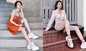 Sao Việt đua nhau lăng xê mốt giày 'bé bự' giống sao Hàn