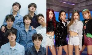 So sánh mức độ phổ biến toàn cầu của BTS, Twice và Black Pink