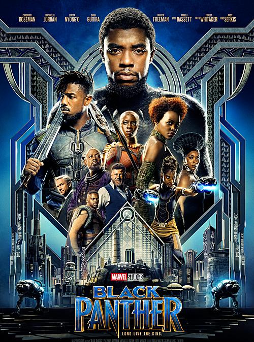 Dàn diễn viên toàn người da màu của Black Panther.