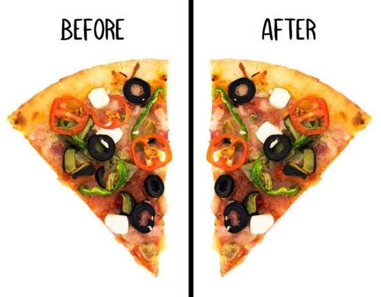 Miếng pizza này đã bị ăn vụng mất topping gì? - 2