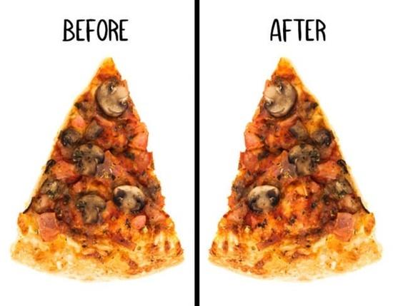 Miếng pizza này đã bị ăn vụng mất topping gì? - 3