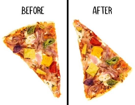 Miếng pizza này đã bị ăn vụng mất topping gì? - 4