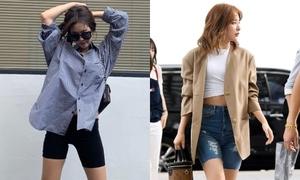 Jennie - Seul Gi chứng minh dáng chuẩn với quần bó chẽn