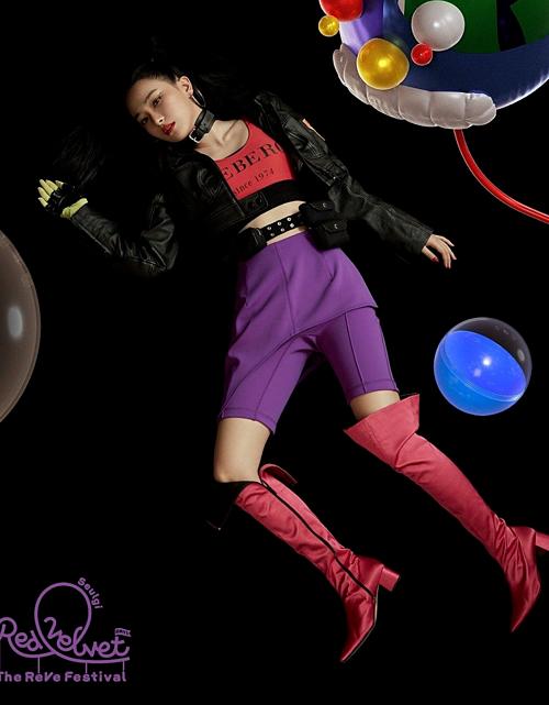 Chiếc quần biker short màu tím thiết kế lạ mắt giá 395 USD, gần 9,2 triệu đồng của Toga Pulla từng được nữ idol nhà SM diện trong teaser mini album