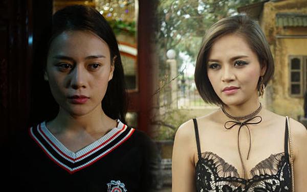 Phương Oanh và Thu Quỳnh trong phim Quỳnh Búp bê.