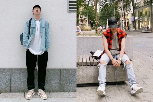 RM diện street style trẻ trung, cá tính. Trưởng nhóm BTS có đôi chân dài như người mẫu.