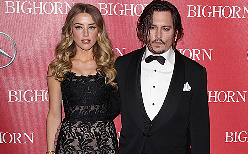 Amber Heard và chồng cũ Johnny Depp.