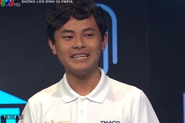 Nguyễn Hải Đăng nhất cuộc thi quý 2. Ảnh cắt từ clip.