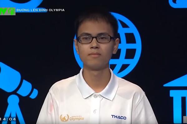 Trần Thế Trung nhất cuộc thi quý 1. Ảnh cắt từ clip.