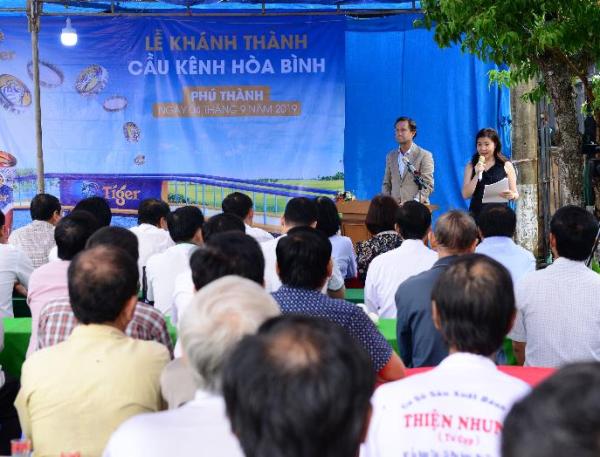 Buổi lễ khánh thành cầu Kênh Hòa Bình có sự tham dự của nhiều đại diện cơ quan ban, ngành tỉnh An Giang.