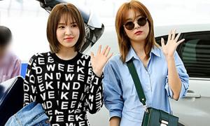 Seul Gi - Wendy khoe style chất ở sân bay