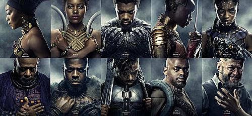 Black Panther có số lượng nhân vật da màu áp đảo, vai trò của các diễn viên nữ cũng nhiều hơn.