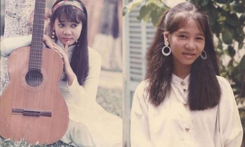 Thu Minh năm 16 tuổi. Cô vào showbiz sau khi đoạt giải nhất cuộc thi Tiếng hát truyền hình năm 1993.
