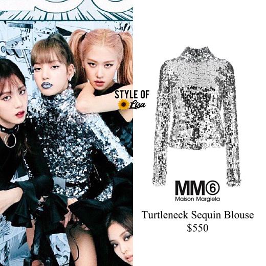 Lisa gây ấn tượng trong shoot ảnh nhóm trên trang bìa tạp chí Jalouse Trung Quốc. Áo sequin đến từ nhãn hiệu Pháp  Maison Margiela, có giá 550 USD (hơn 12 triệu VNĐ).