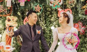 Đôi trẻ mang Tết Trung thu vào đám cưới