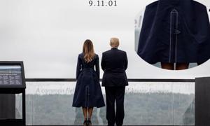 Váy của Melania Trump bị chỉ trích mô phỏng vụ 11/9