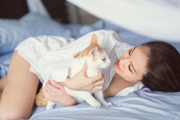 . Đây vốn là đàn mèo (7 con) được Phương Mai nuôi nhiều năm khi còn độc thân. Sự bình lặng này hoàn toàn khác xa với cuộc sống độc thân sôi động trước đây của người đẹp. Cô cười thừa nhận rằng, bản thân mình ngày càng nữ tính, đằm thắm hơn và bớt đi sự nổi loạn, phóng khoáng.