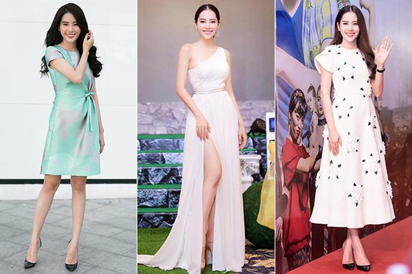 Trước đây, thời trang xuống phố hay đi sự kiện của Nam Em đều gắn liền với những bộ váy tha thướt cùng mái tóc đen dài đậm chất Á Đông.