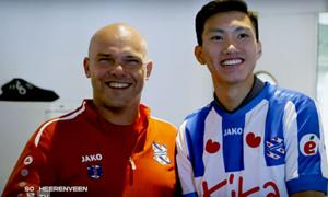 HLV Heerenveen khen Văn Hậu