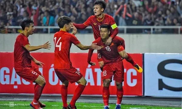 Thầy trò Park Hang-seo đã giành vé dự VCK U23 châu Á 2020 sau chiến thắng hoành tráng 4-0 trước Thái Lan trên sân Mỹ Đình tối 26/3. Ảnh: Đức Đồng.