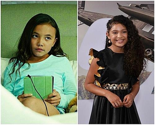 Eden Estrella (trái) và Eliana Sua (phải) cùng thể hiện vai Samantha nhưng trông không lớn hơn nhau.