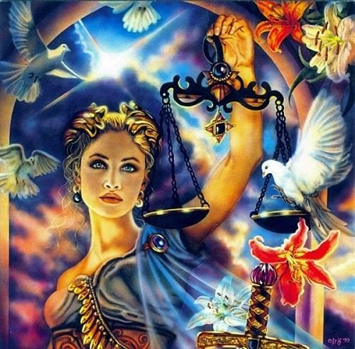 Thiên Bình - nữ thần của công lý và lẽ phải.